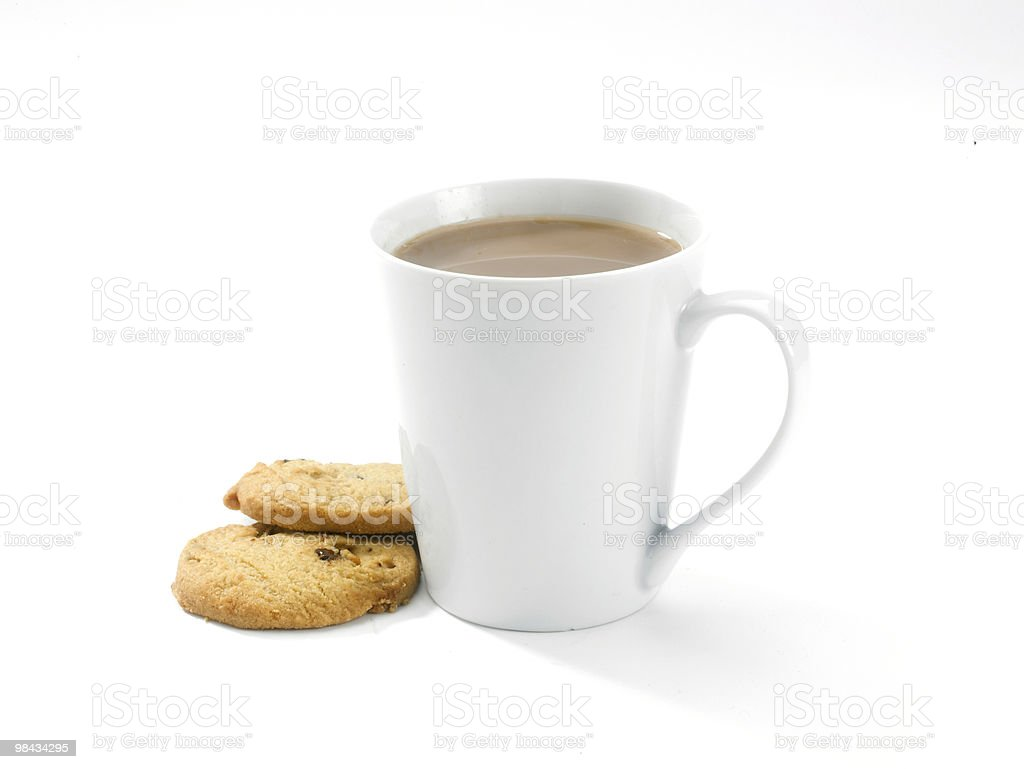 Coffee mug and buscuits royalty-free stock photo