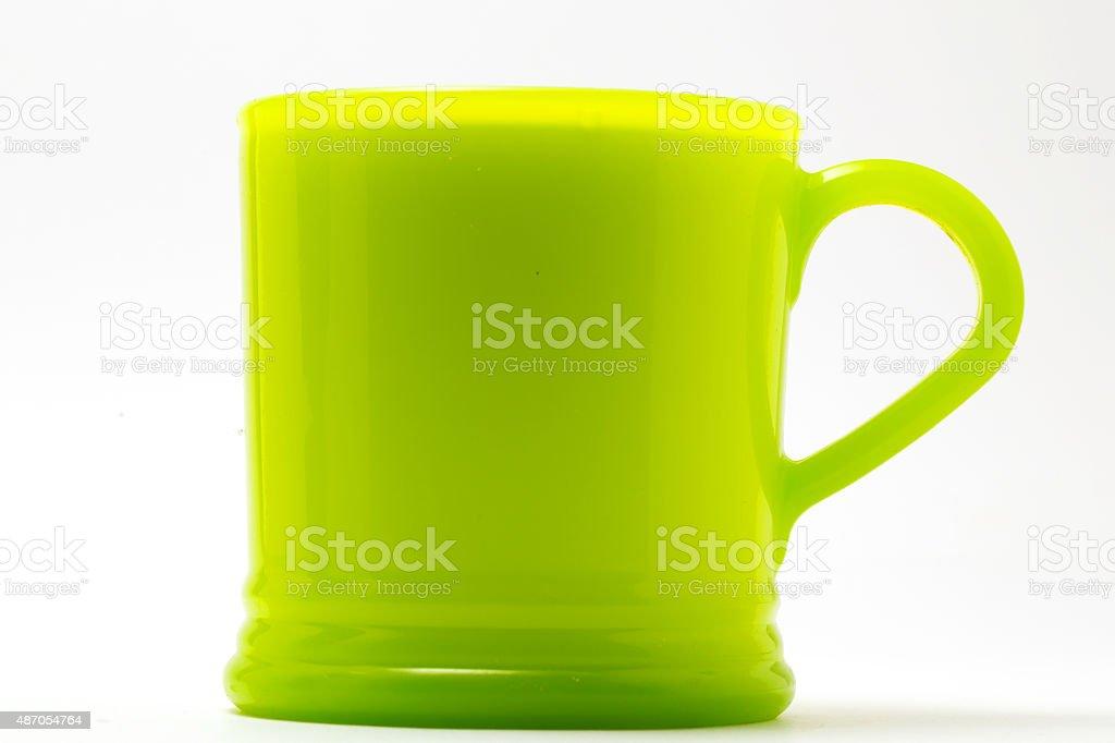 coffee mug isolated on white stock photo