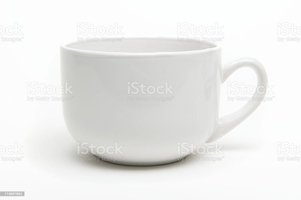 Coffee Mug with Shadow White Background stock photo