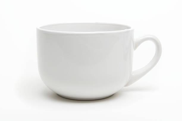 Coffee Mug with Shadow White Background stock photo