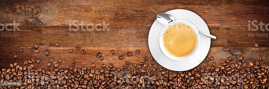 coffee old oak background stock photo