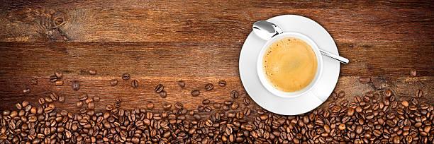 coffee old oak background stock photo