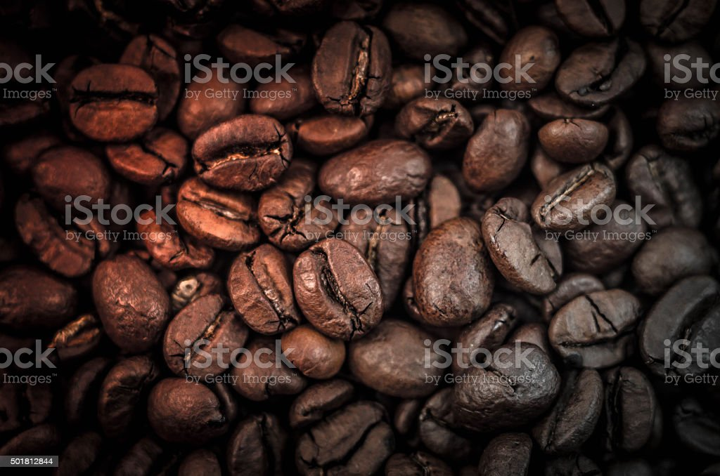 Coffee on a black background stock photo
