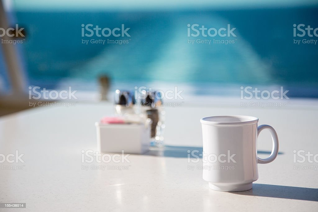 Coffee on a Cruise Ship royalty-free stock photo