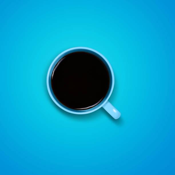 Coffee on blue stock photo