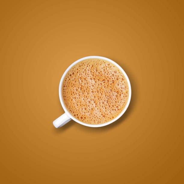 Coffee on brown stock photo