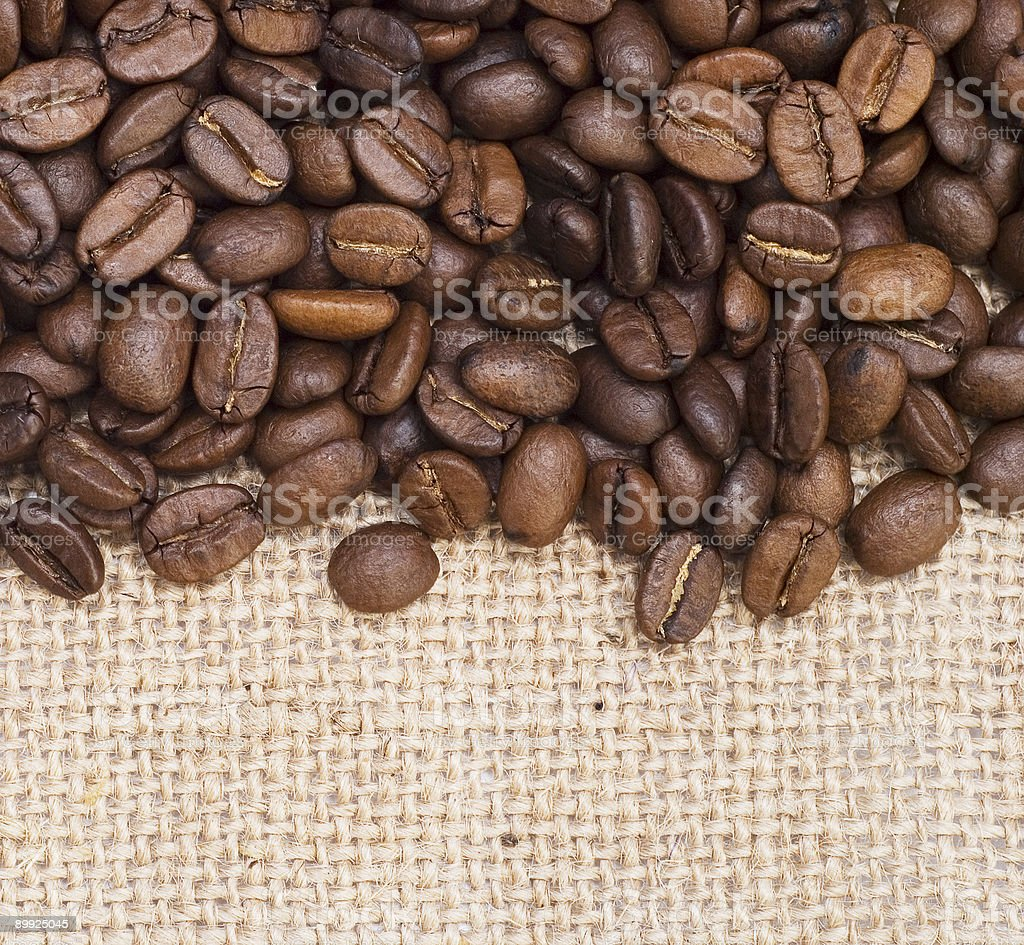 coffee on canvas royalty-free stock photo