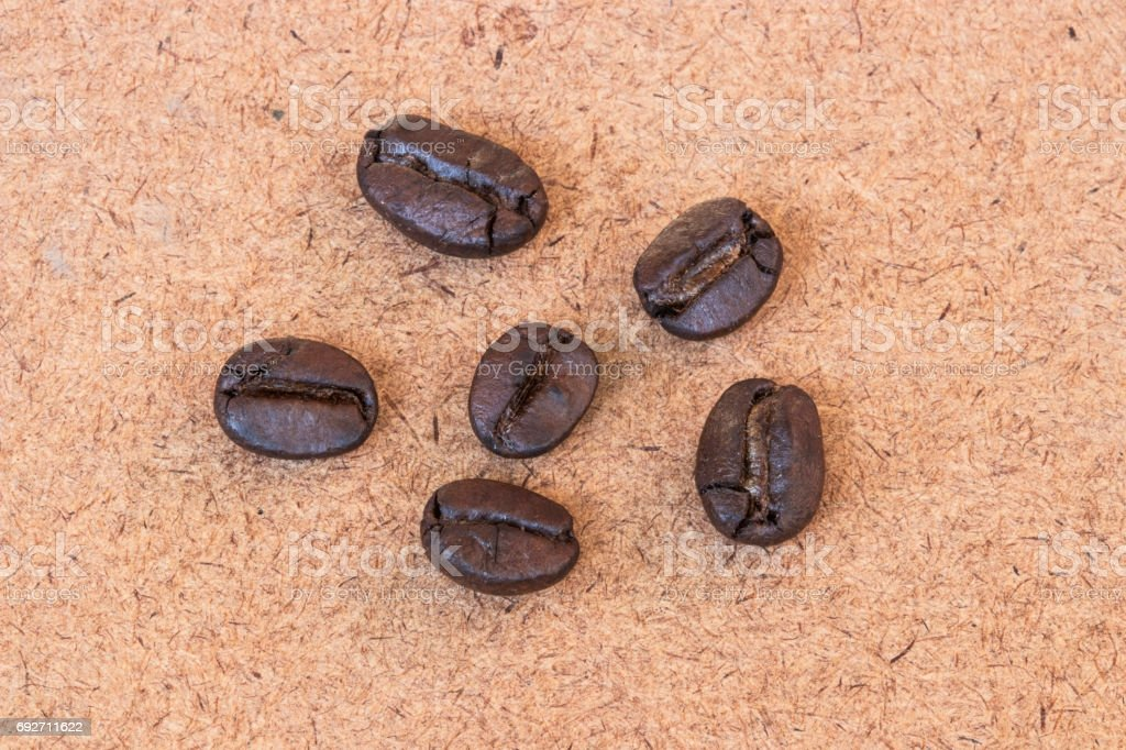 Coffee on grunge wooden background stock photo