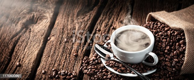 istock Coffee On Old Weathered Table 1170600961