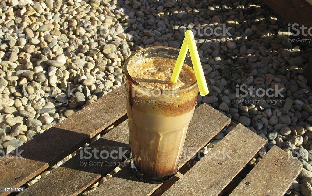 Coffee on the beach royalty-free stock photo
