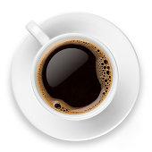 istock Coffee on white 181101609