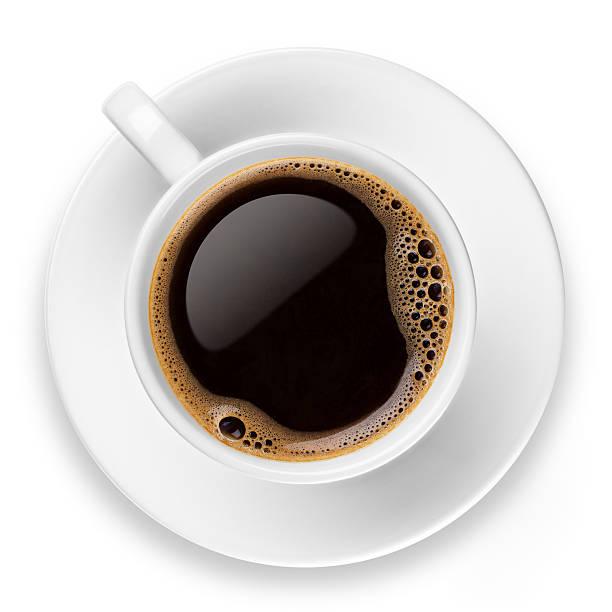 coffee on white - 杯 個照片及圖片檔