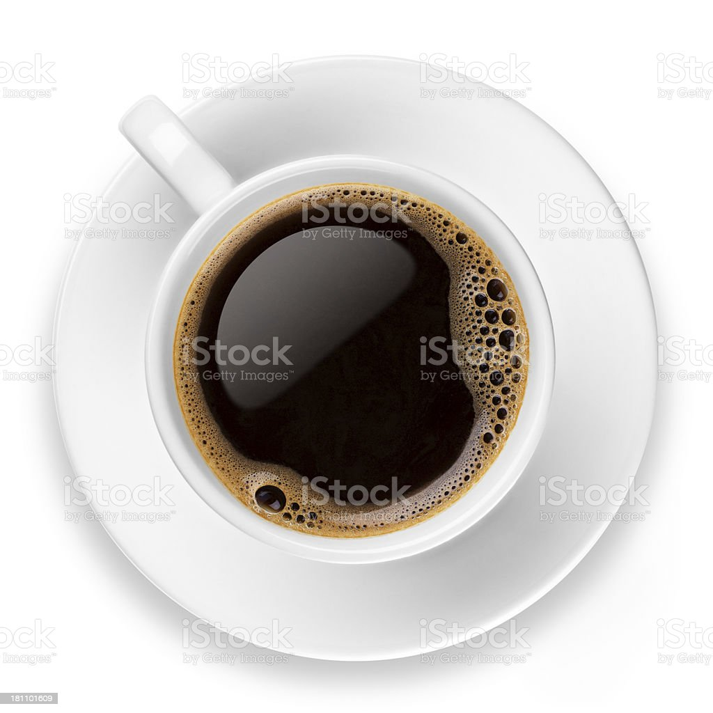 Coffee on white stock photo