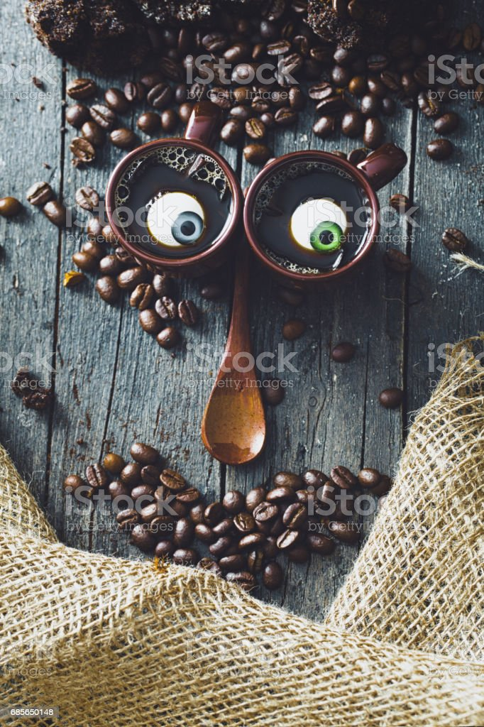 Coffee on wood Lizenzfreies stock-foto