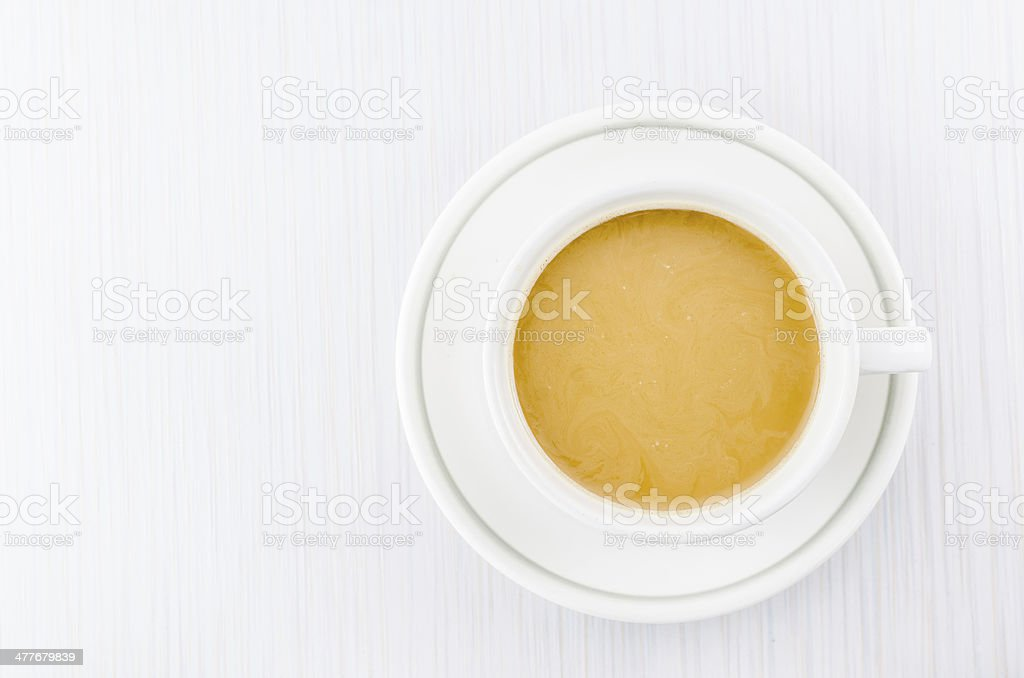 coffee on wood table royalty-free stock photo