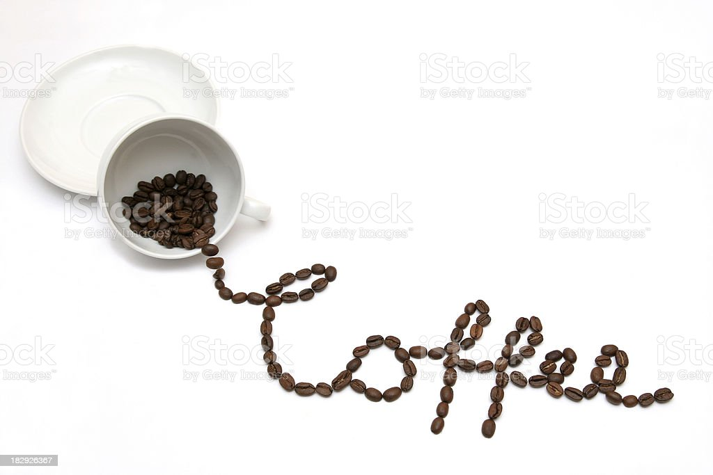 Coffee out of the cup royalty-free stock photo