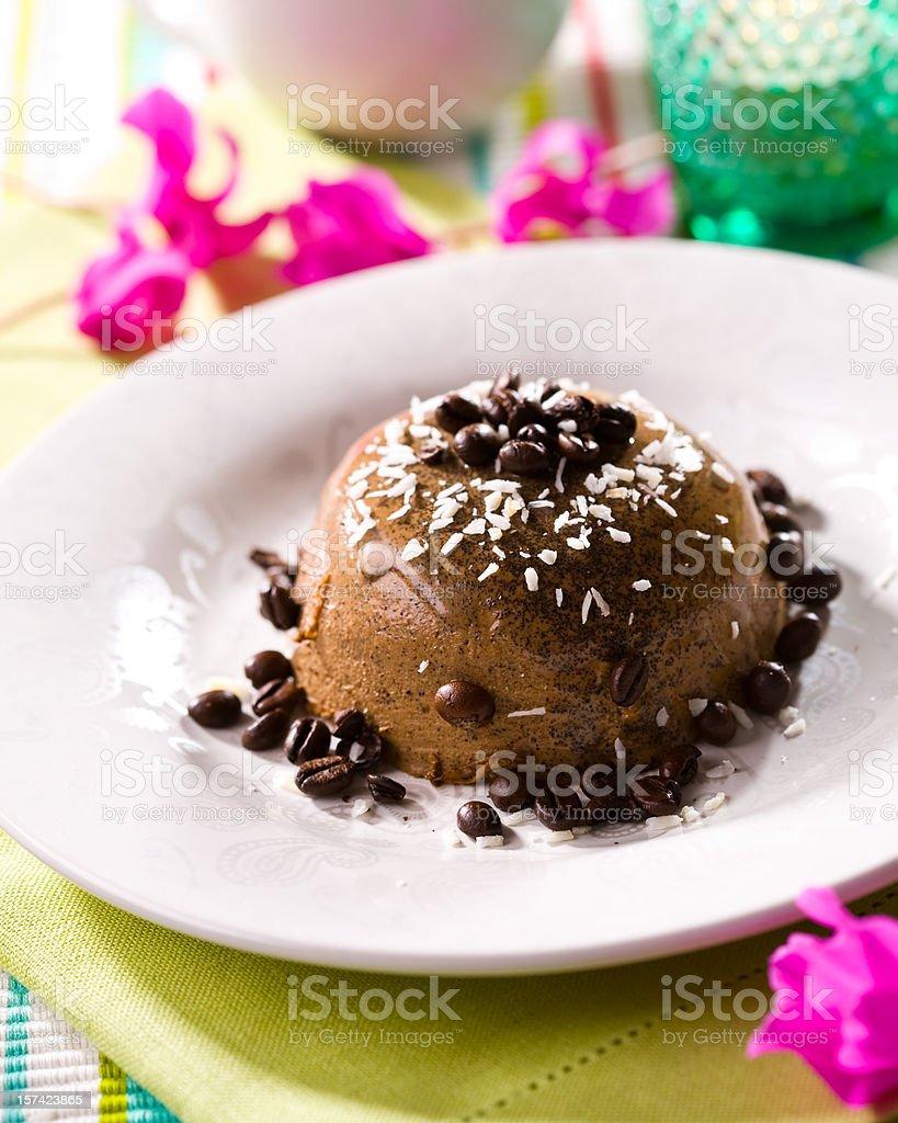Coffee panna cotta royalty-free stock photo