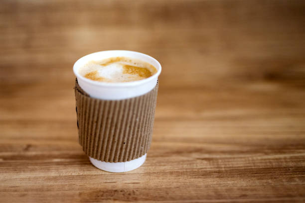 coffee Paper cup of hot coffee disposable cup stock pictures, royalty-free photos & images