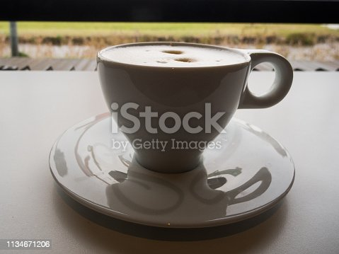 against light image of Cup and Saucer with coffee