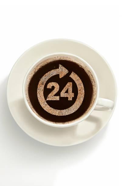le café - nombre 24 photos et images de collection