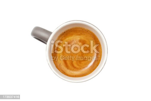 Cup of espresso, isolated on white background