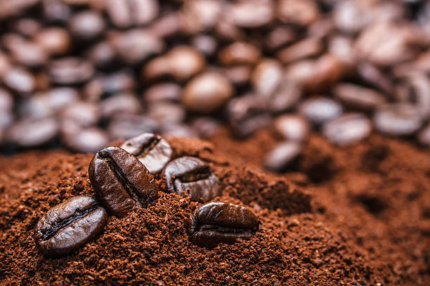 kaffee - kaffeepulver stock-fotos und bilder
