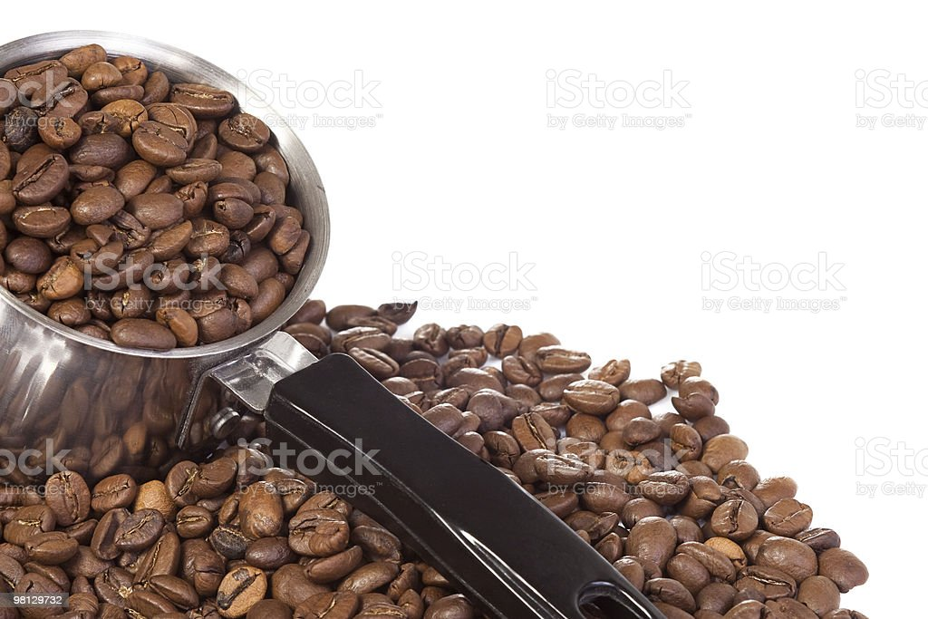 coffee pot beans royalty-free stock photo
