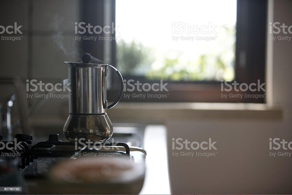 Dzbanek do kawy na turystyczna zbiór zdjęć royalty-free