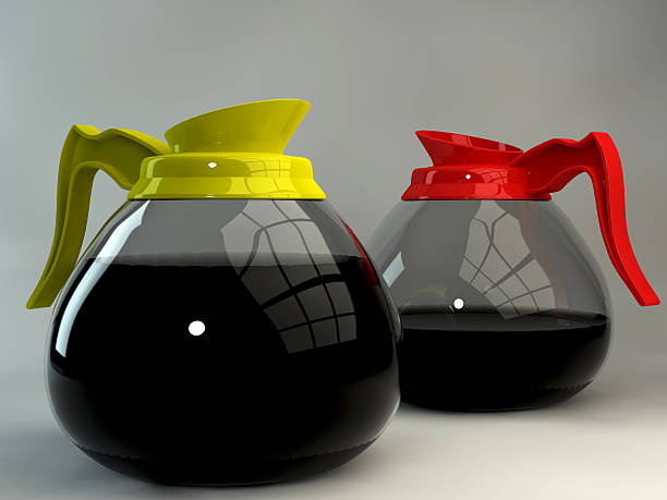 Coffee pot Beautiful glass&plastic coffee pots  coffee pot stock pictures, royalty-free photos & images