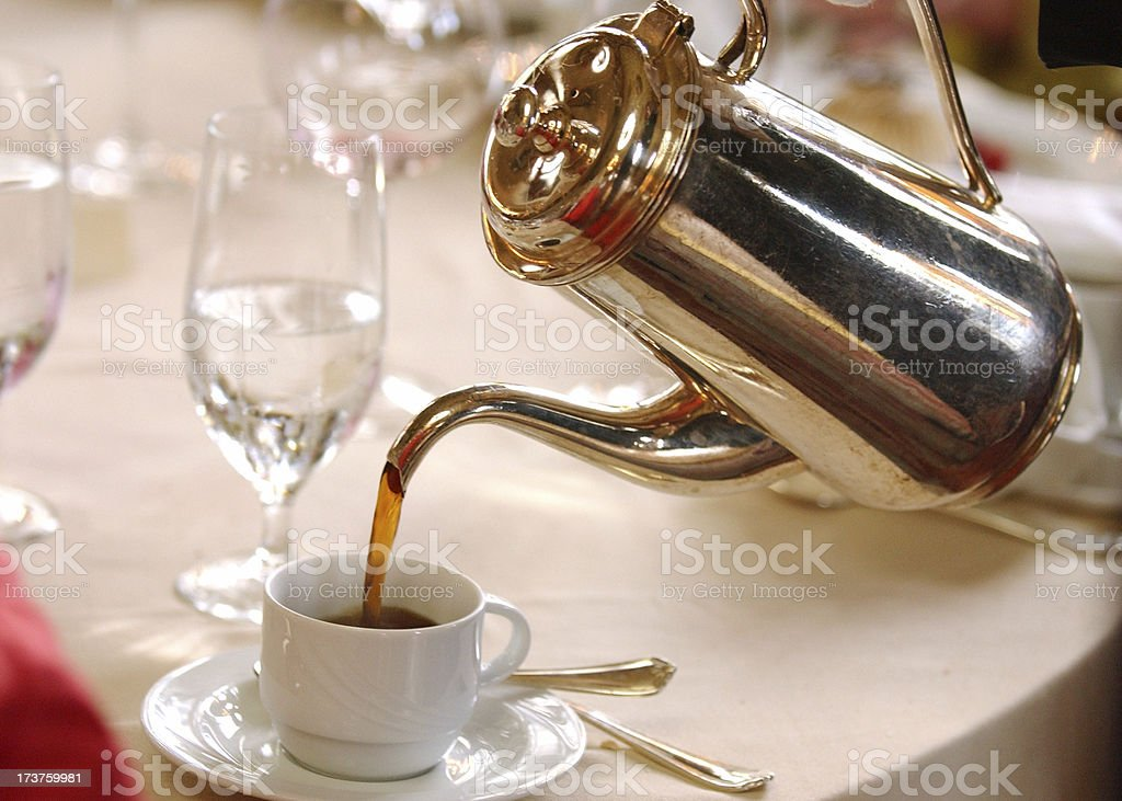 Coffee Pot Pouring royalty-free stock photo