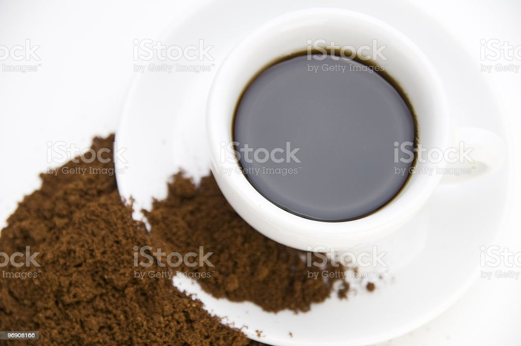coffee powder from above near royalty-free stock photo