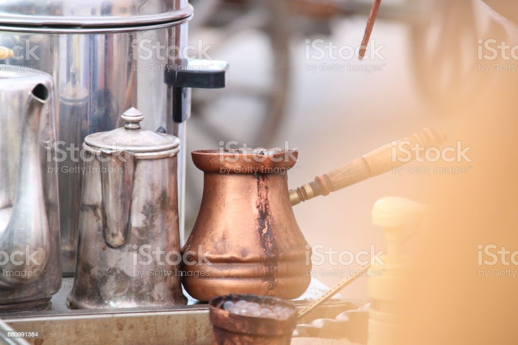 Coffee preparation concept. Soft focus. royalty-free stock photo