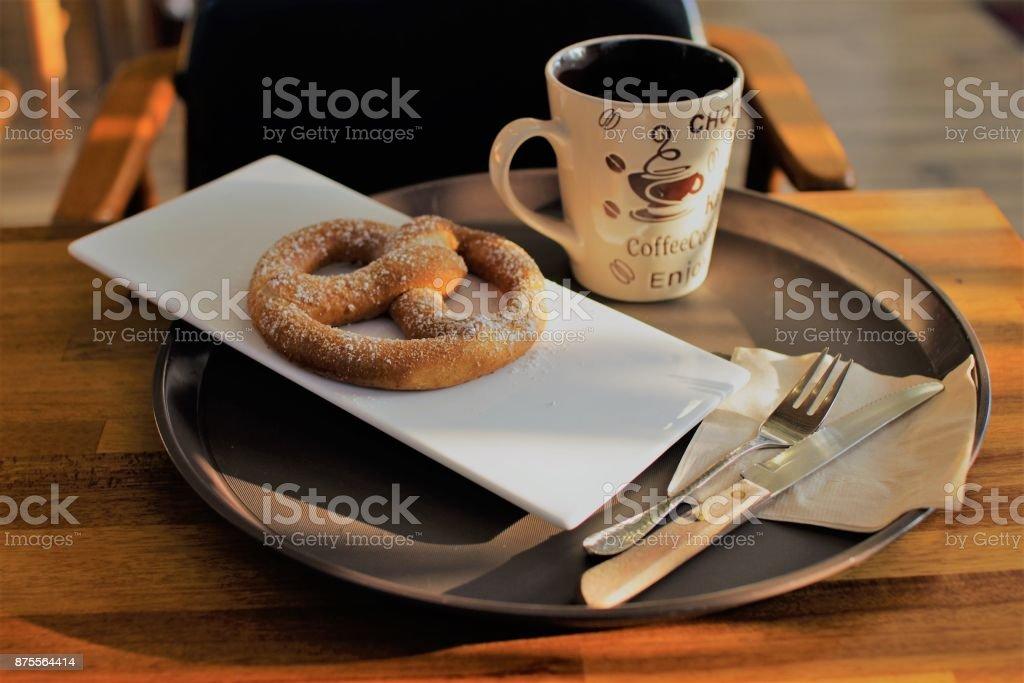 café, salados - foto de stock