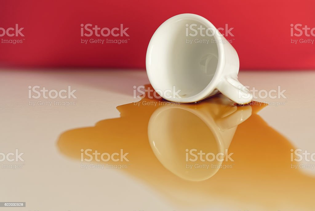 Coffee Puddle stock photo