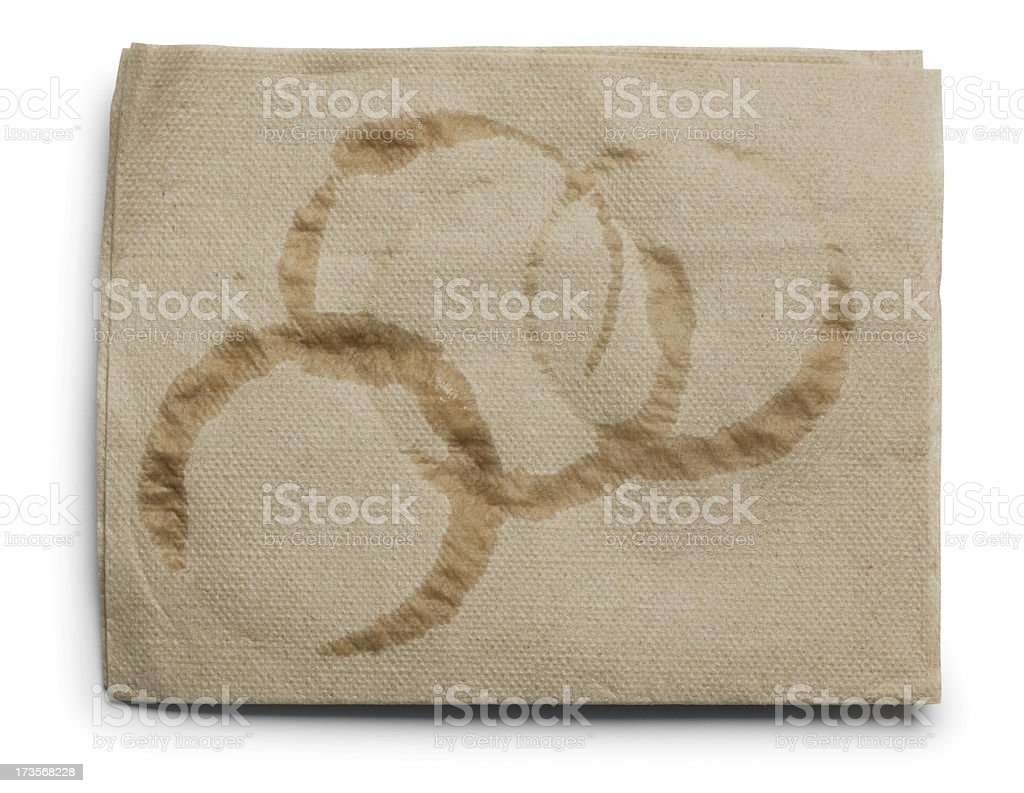 Coffee Rings stock photo