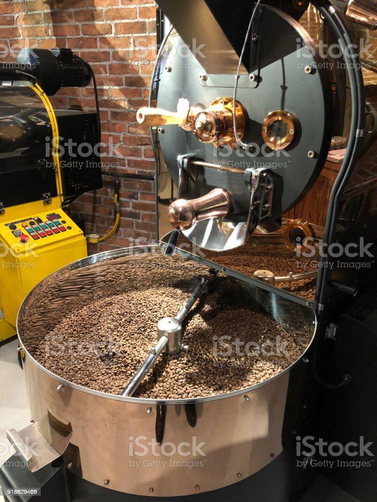 Coffee Roasting Process Concept stock photo