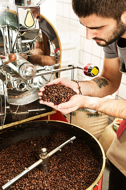 """the process of coffee Regardless of the roasting method, the process consists of alternating endothermic and exothermic processes or absorbing and releasing heat and stopping the roasting process through rapid cooling at precisely the right times endothermic, warm up during this """"warm-up"""" process, moisture is quickly being dissipated."""
