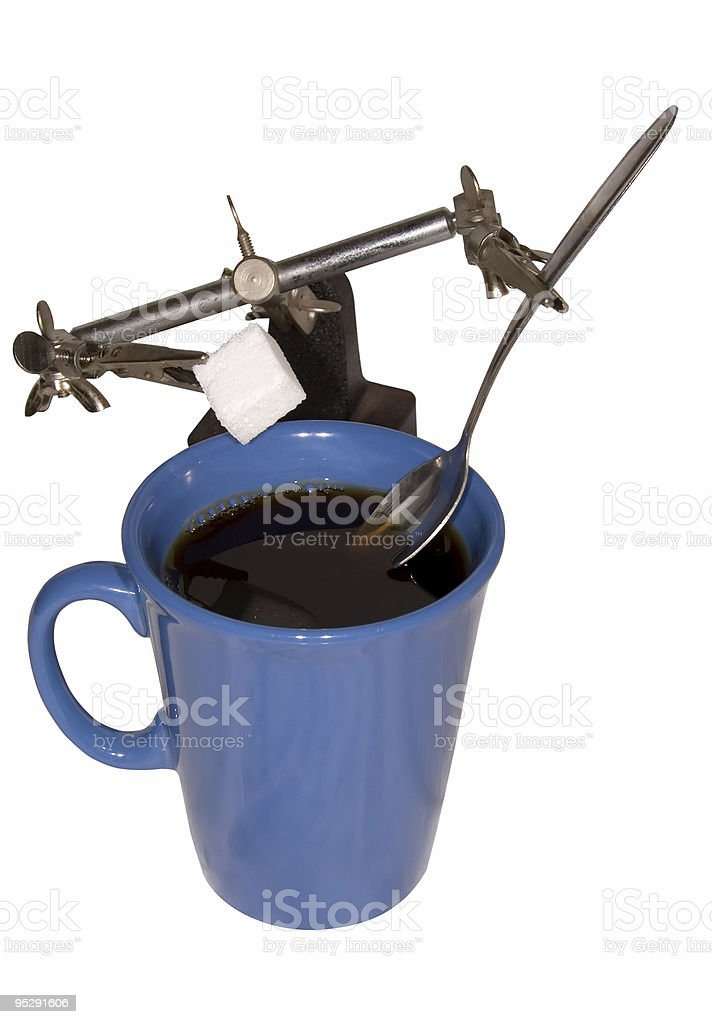 Coffee Robot (Clipping path provided) royalty-free stock photo