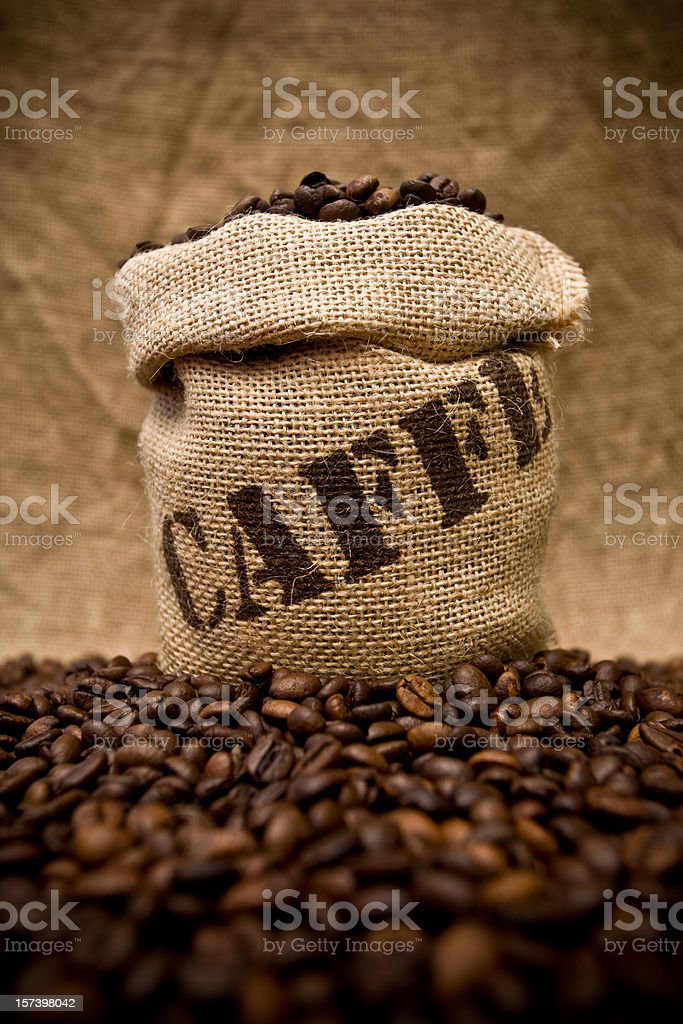 Coffee sack royalty-free stock photo