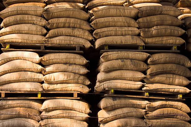Kaffee sack stack – Foto