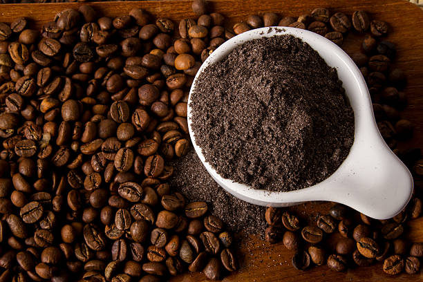 kaffee-peeling - kaffeepeeling stock-fotos und bilder