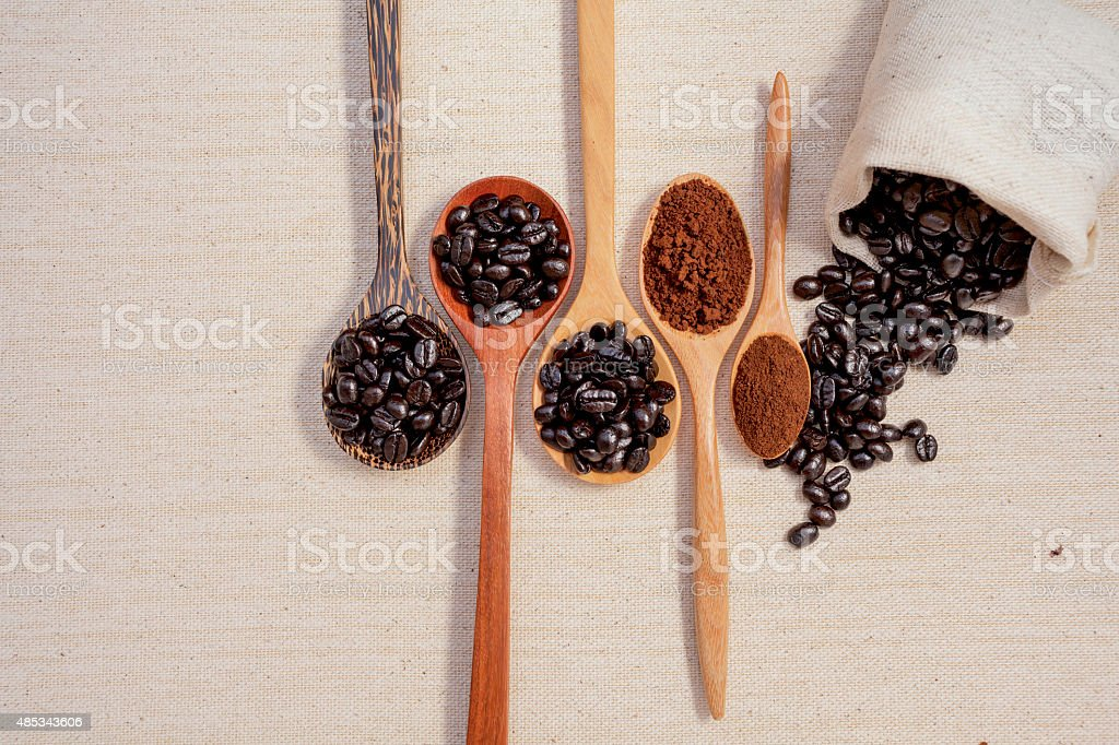 Coffee selections stock photo