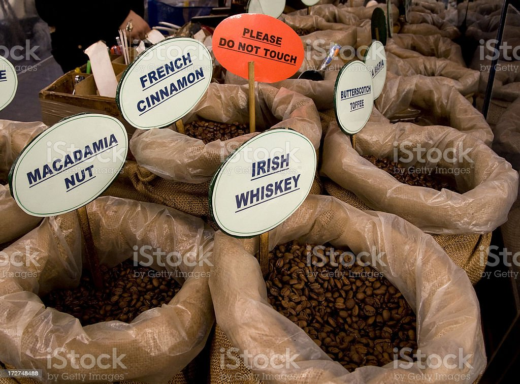 Coffee seller's stall royalty-free stock photo