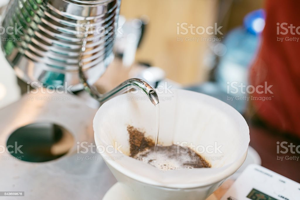 Coffee series : hand-drip coffee stock photo