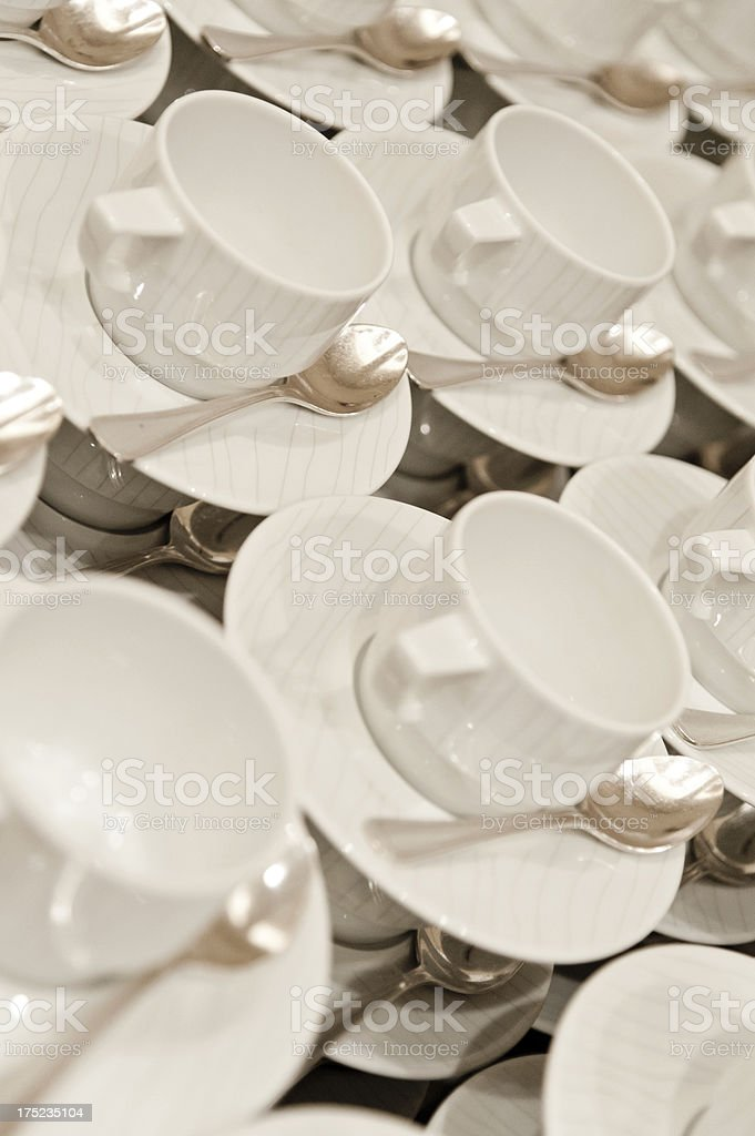 Coffee Service Setup royalty-free stock photo