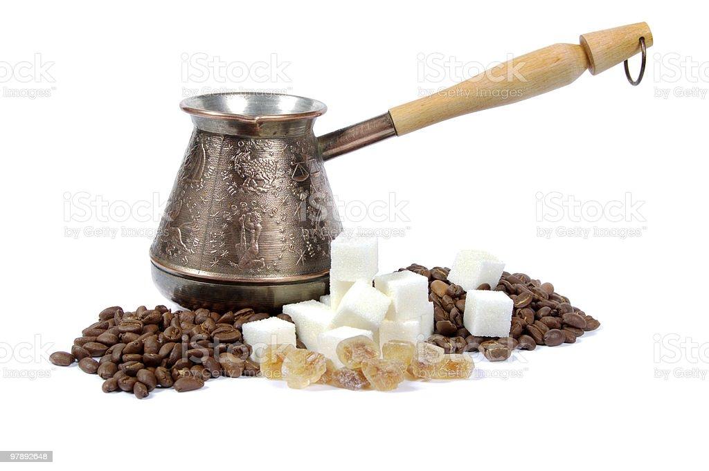 Coffee set royalty-free stock photo