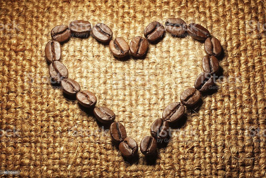 Coffee shape heart royalty-free stock photo