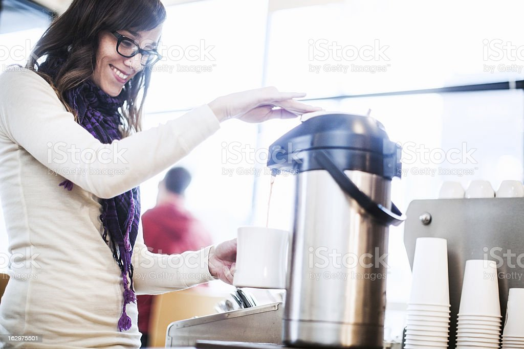 Coffee Shop Drip Fill Up stock photo
