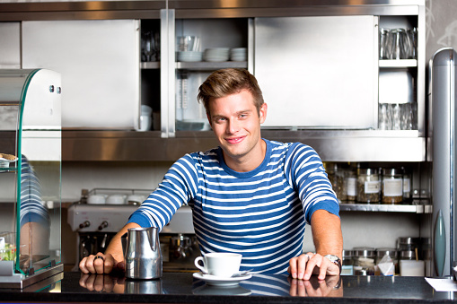 Coffee Shop Employee Stock Photo - Download Image Now