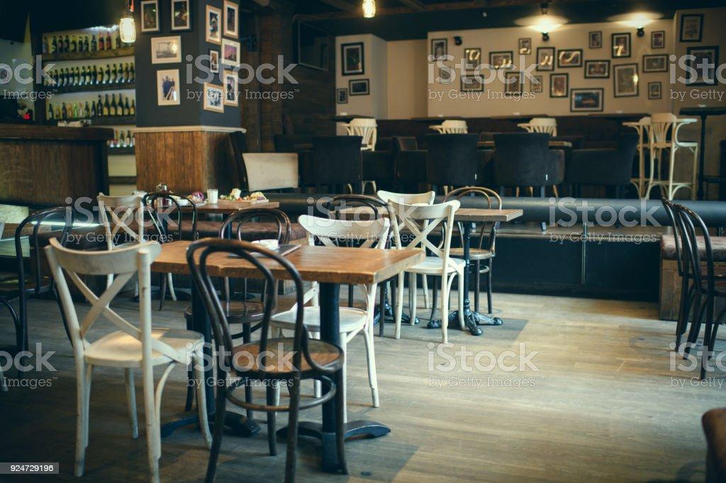 Coffee shop enterior stock photo